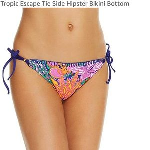 NWT Trina Turk Tropic Escape side tie hipster